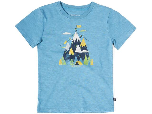 United By Blue Summit T-shirt à col ras-du-cou à motif Adolescents, ripple blue
